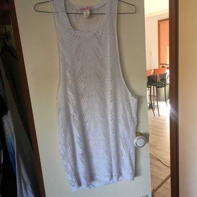 White Over Swimsuit Dress