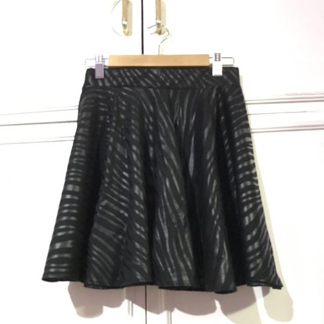 Zebra Printed Skater Skirt