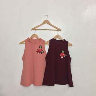 PLUS SIZE SLEEVELESS WITH PATCHES