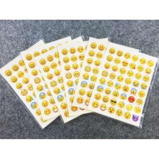 5 sheets emoji stickers set