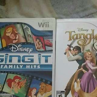 Wii Sing It And Tangled