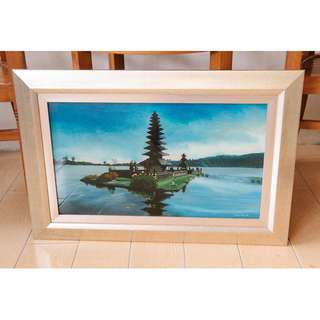 Balinese Temple Glass Painting by Marzuki