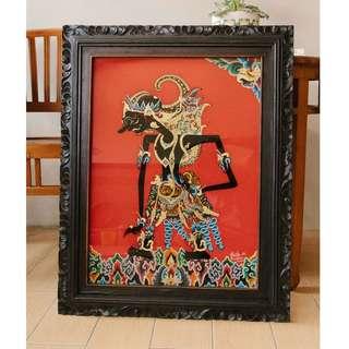 Traditional Wayang Glass Painting by Rastika