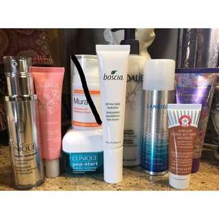 Various Skincare Items