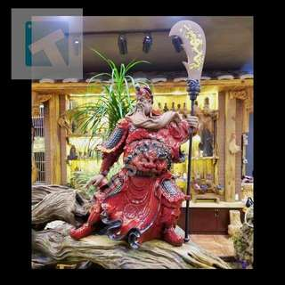 Rare! Standing Guan Gong  (武关公) Statue