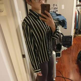 H&M Vertical Strip Shirt