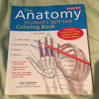 The Anatomy Student's Self-test Colouring Book