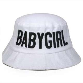 White Baby girl Bucket Hat