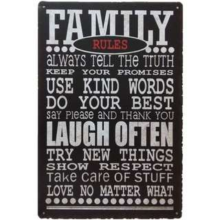 metal plate decor use kind words laugh often