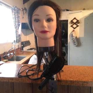 Real Hair  Mannequin Hairdresser Head