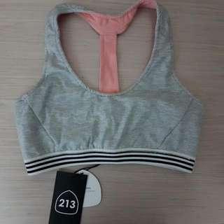 Grey Yoga Crop 213 Apparel Size XS