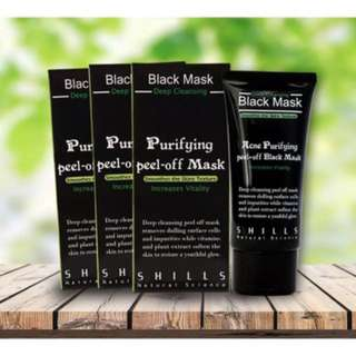3x Black Mask Blackhead Remover Black Face Mask Facial Mask Purifying Peel Off