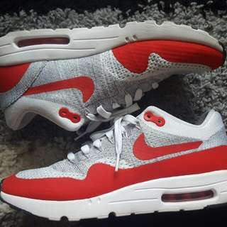 Nike Air Max 1 Flyknit Red  / White
