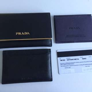 Prada Wallet And Card Holder