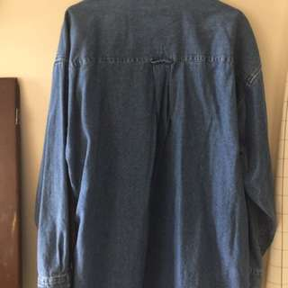 Over Sized Denim Shirt Or Jacket