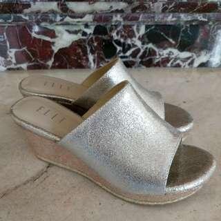 🌼Silver ELLE platforms Wedges Shoes