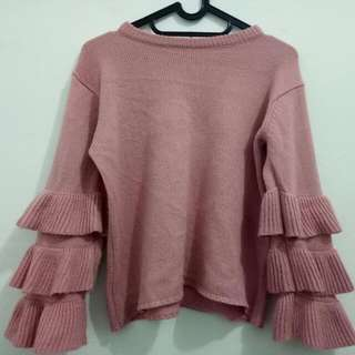 Adelle Ruffle Sweater