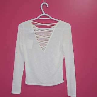H&M White Long Sleeve