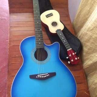 LUMANOG GUITAR +Premiere ukulele