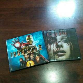Carrie 2013 & Iron man 2 (VCD)