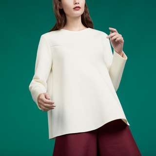 COS Front Seam Scuba Top in Ivory