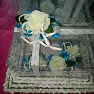 Kotak Seserahan Mika Nuansa Putih Tosca