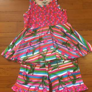 So 6X, Flap Happy 2 Piece girls Ruffle Shorts and Top