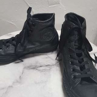 Leather Look Converses