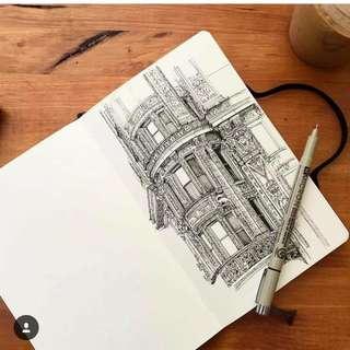 日本特幼專業繪圖勾線針筆 Super thin professional marker pen sakura pigma micron