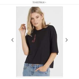 Cotton on black top