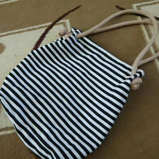Tote Bag - stripe garis-garis