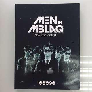 MEN IN MBLAQ 2011 Live Concert Story Book + DVD