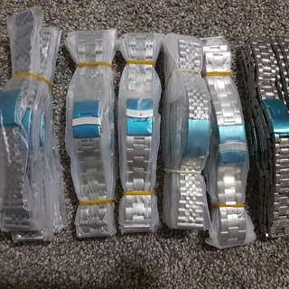 Assorted Stainless Steel Silver Men Watchband