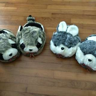 Plush Slippers From Japan