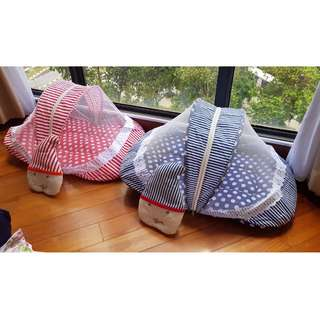 Baby travel bed with pillow & mosquito net