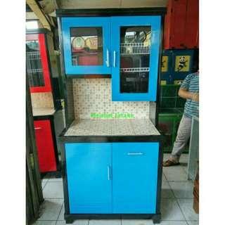 Lemari Sayur Dapur CA 2 Pintu | Bahan Kayu Triplek Keramik.