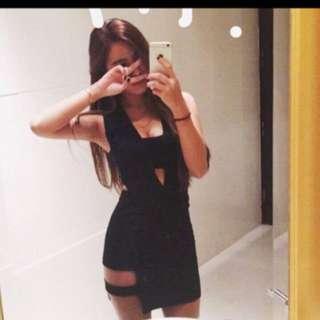 Scrappykoko 黑性感洋裝