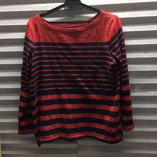 Uniqlo Stripes Long Sleeve T Shirt (free Pos)