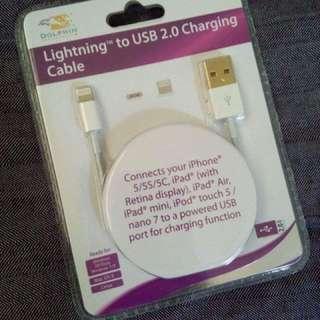 Lightning Cable  Iphone5 5s 5c Ipad Air Mini Ipod Nano 7