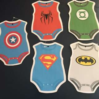 Superhero Baby Onesie Buntings
