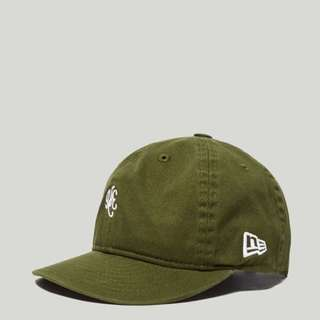 New Era 9FIFTY Strapback Cap Olive Green & Denim Blue Exclusive