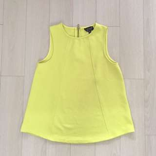 Topshop Lime Green Top Uk6
