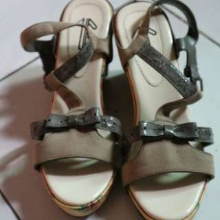 Up Wedges Shoes Grey