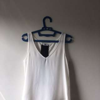 Pull N Bear Broken White Tank