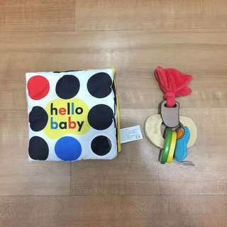 BABY book and wooden Toy