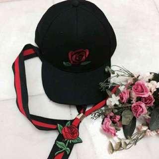 Rose Printed Baseball Cap