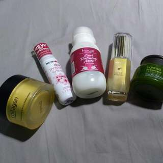 Collagen by watsons moisturizer by human nature curl milk by monea snail firming by mumuso face cream by mumuso