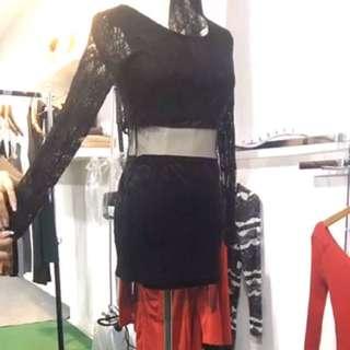 Lace Long Sleeve Dress