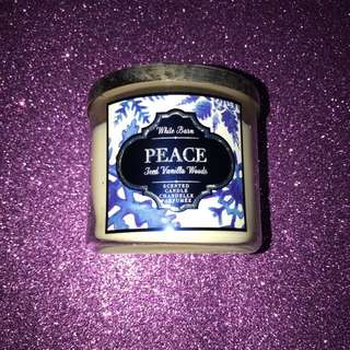 """Bath and Body Works """"peace"""" Candle"""