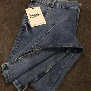 "Siksilk Sik Silk Low Rise Skinny Jeans Light Stone Wash W 30 - 32"""